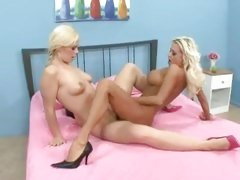 Nasty lesbians Nikita Von James and Tara Lynn grinds hot wet pussies together