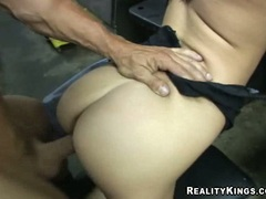 Valerie Herrera bent over jucy pussy pounded with dick until cum covers ass