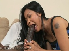 Cock lover Priva takes her lover's cock in her mouth like a cum coated lollipop