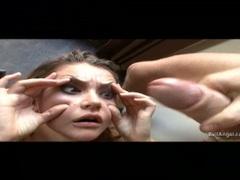 Cum lover Allie Haze gets her face creamed with man goo after a hot bang