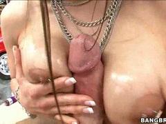 Pornstar Rachel Roxx munching a lucky guys hardon with all her pleasure
