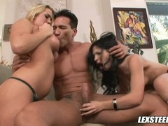 Hot girlfriends Rebecca and Alana shares a hard cock together and loves it lot