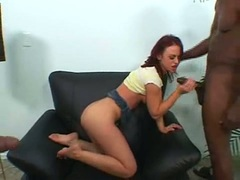 Black cock lover Elizabeth Lawrence tag teamed fucked by hung studa
