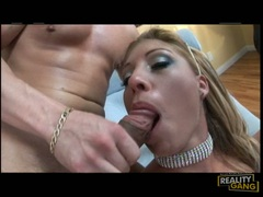 Lusty lover Jasmine Tame receives a hot cumshot on her mouth and enjoys it