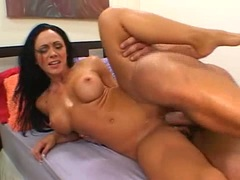 Randy brunette Cherokee gets a raunchy fuck from monster cock