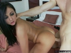 Lusty bitch Audrey Bitoni gets the perfect fuck she always wanted and craves for
