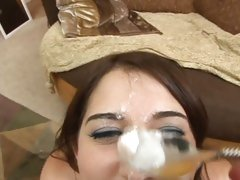 Young slut Victoria Raven takes her man medicine after a cock sucking session