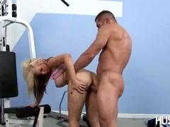 Bitchy hot babe Rachel Solari getting boned hard on her twat from behind