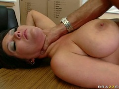 Lusty hot Claire Dames spreads her twat nice and wide and gets real fucked