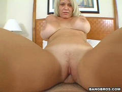 Filthy naked Charley Chase slams her pussy nice and deep on a hard cock