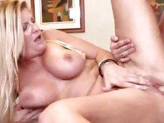 Dirty milf Robbye Bentley taking huge cock deep and hard in dripping gash