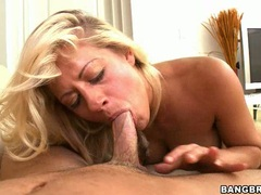 Cock starving Holly Heart slurps a meaty cock in her mouth like a huge noodle