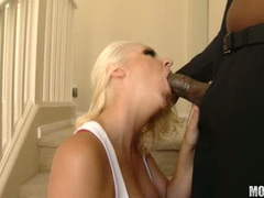 Bithy blonde Ex Girlfriend gets her mouth filled with a cock until she chokes