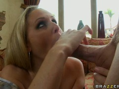 hot milf Julia Ann enjoying her boyfriend's dick sliding in her sweet mouth