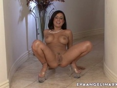 Tempting whore Eva Angelina teases every man she wanted with her hot curves