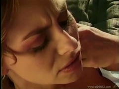 Filthy alluring Harley Raines gets her mouth gooed the way she always liked it