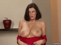 Big boobed honey Sara Stone posing hot just like every man's desire
