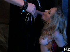 Slutty wild Aiden Starr eagerly hooks her mouth with her lover's thick shaft