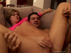 Horny wild Claire Robbins gets double cocked in her holes at the same time