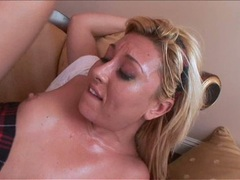 Slutty youing bitch loves the awesome cock intruding her sugary mouth