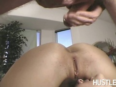 Lusty porn babe Raquel Devine craves for some hot jizz after one nice bang