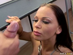 Lusty beautiful Christina Bella loves the warmth of her man's cum on her mouth