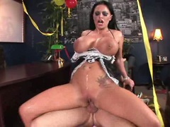 Sexy hot Kerry Louise eagerly slams her snatch on a cock until she gets cummed
