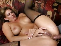 Cougar Phyllisha Anne sweet ass stuffed and fucked with massive cock