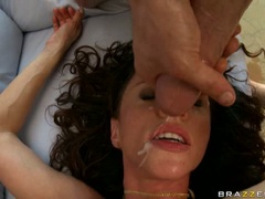 Awesome hot bitch receives the cumshot she deserved after a hot and wild fuck