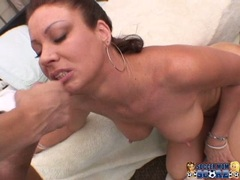 Sizzling whore Vanessa Videl always loved to get sauced with jiz on her mouth