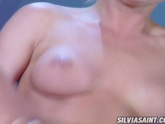 Burning hot Sylvia Saint loves to get her ass plugged on a throbbing huge cock