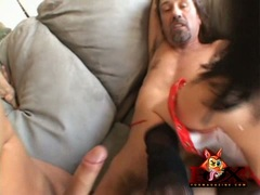 Filthy lover Taryn Thomas gets that deep drill in her ass she can't help moaning