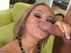 Cum thirsting Aleksa Diamond loves the pleasure of getting her mouth sauced