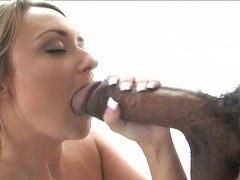 Cock starved Carmella Crush stuffs her mouth with a thick shaft and enjoys it