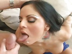 Pornstar Mikayla loves the creamy load of jizz she gets after a hot fuck
