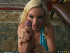 Sex bombshell Diamond Foxxx gets real teased with her boyfriend's inviting cock