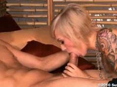 Cock sucking bitch Emma Mae munching a juicy thick cock like a yummy sausage
