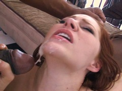 Lusty bombshell Frankie Vargas likes the warmth of her man's jizz on her mouth