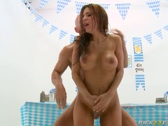 Sensual hot Alexa Nicole receives a steamy spurt of cock sauce on her face