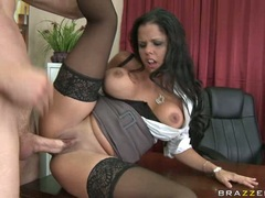 Plump tanned babe Diamond Kitty gets her wet ass fucked and loves it