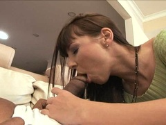 Cock starved Maria Bellucci feeds her mouth with an awesome baloney