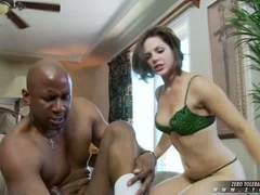 Cock choking slut Bobbi Starr gets her mouth ripped by a monster cock