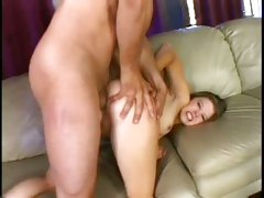 Brooklyn put throught the ringer as she gets ass ripped open and pussy fucked