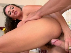 Sexy hot momma Ariella Ferrera enjoys getting plowed by a young cock from behind