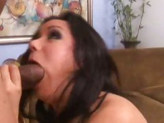 Naughty Nadia Styles is butt fucked by a big black boner and loaded in the face