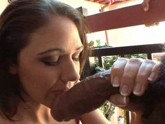 Filthy babe Katie Angel enjoys her man's gigantick pole sliding in her mouth