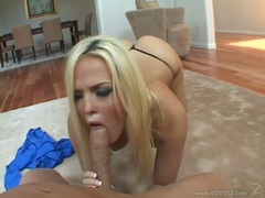 Alexis Texas gets cock rammed in her wet mouth as she looks hot on her knees