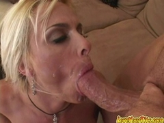 Holly Halston gets jizzed on her huge fun melons