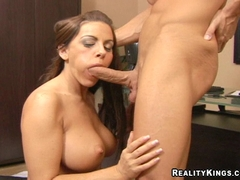 Big tits Victoria Valentino takes a break with hard meatstick
