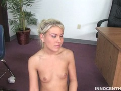 Aubrey Adams gets a messy load in her face